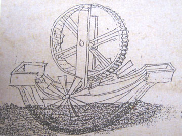 Paddlewheel ship sketch