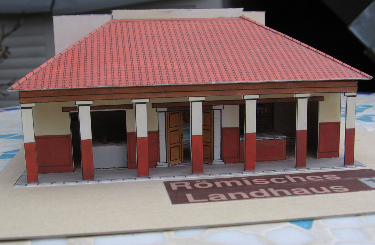 Lutz 39 s web site paper model roman country house - House with a view ...