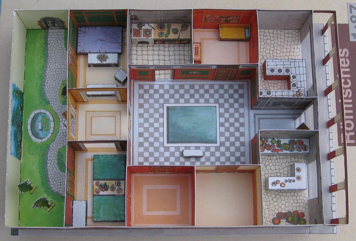 Lutz S Web Site Paper Model Roman Country House