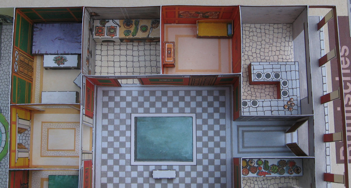 Lutz S Web Site Paper Model Roman Country House