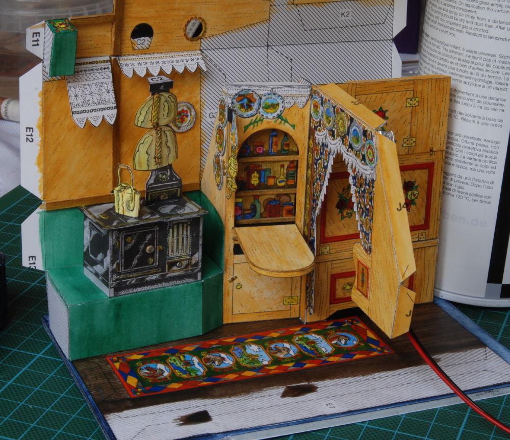 Lutz S Web Site Paper Model Narrowboat Cabin